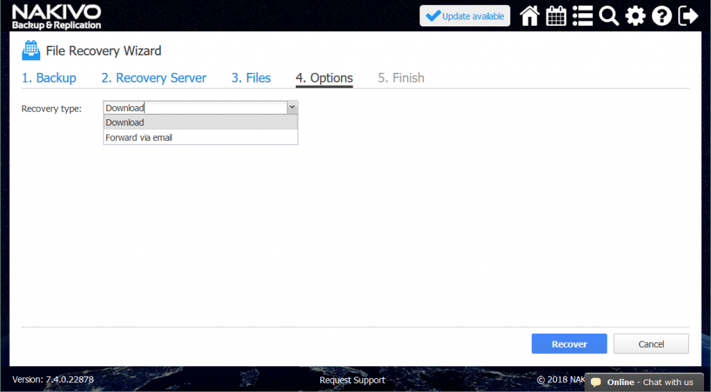 Recover Files Back to Source VMs with NAKIVO Backup